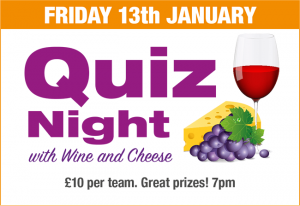 Quiz Night 13th January
